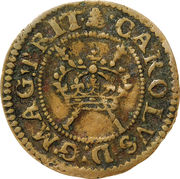"""1 Farthing - Charles I (""""Maltravers"""" issue) – obverse"""