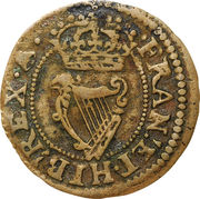 """1 Farthing - Charles I (""""Maltravers"""" issue) – reverse"""
