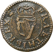 """1 Farthing - Charles II (""""Armstrong"""" issue) – reverse"""
