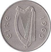 5 Pence (large type) – obverse