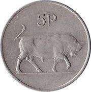 5 Pence (large type) -  reverse