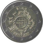2 Euro (10 Years of Euro Cash) -  obverse