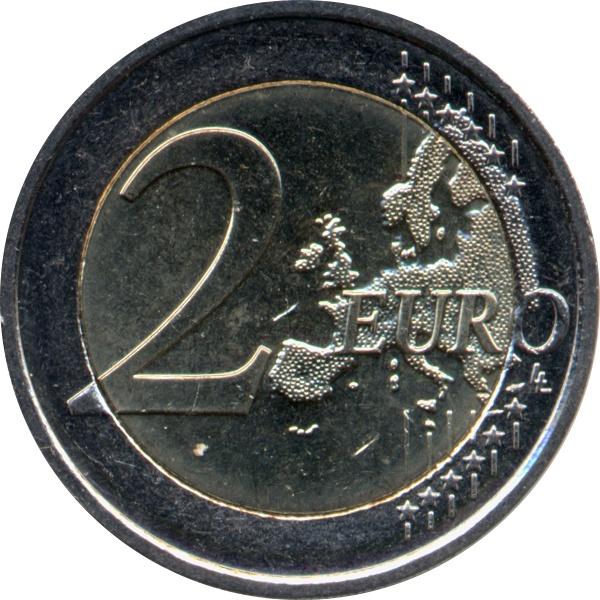 NEW ISSUE BIMETAL 2 EURO UNC COIN 2015 YEAR 30th ANNI EU FLAG GREECE