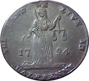 ½ Penny (Dublin L & R) – obverse