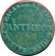 ½ Penny (Dublin - Pantheon) – reverse