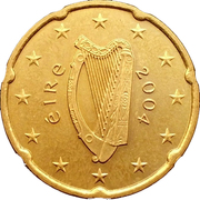 20 Euro Cent (1st map) – obverse
