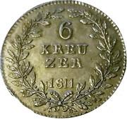 6 Kreuzer - Karl I – reverse