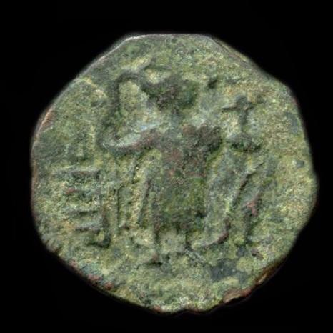 Arab-Sasanian Fals - Muawiyah I - 660-680 AD  type VI Standing Emperor    Muawiyah I