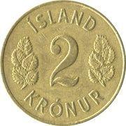2 Krónur – reverse