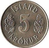5 Krónur – reverse