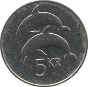 5 Krónur (Non-magnetic) -  reverse