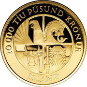 10 000 Krónur (1st Settlement) – obverse