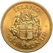 500 Krónur (Jón Sigurðsson) – reverse