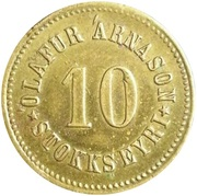 10 Aurar (Olafur Arnason) – obverse
