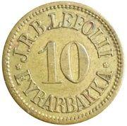 10 Aurar (J. R. B. Lefolii) – obverse