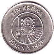 1 Króna (Non-magnetic) -  obverse