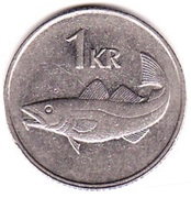 1 Króna (Non-magnetic) -  reverse
