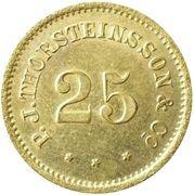 25 Aurar (P. J. Thorsteinsson) – obverse