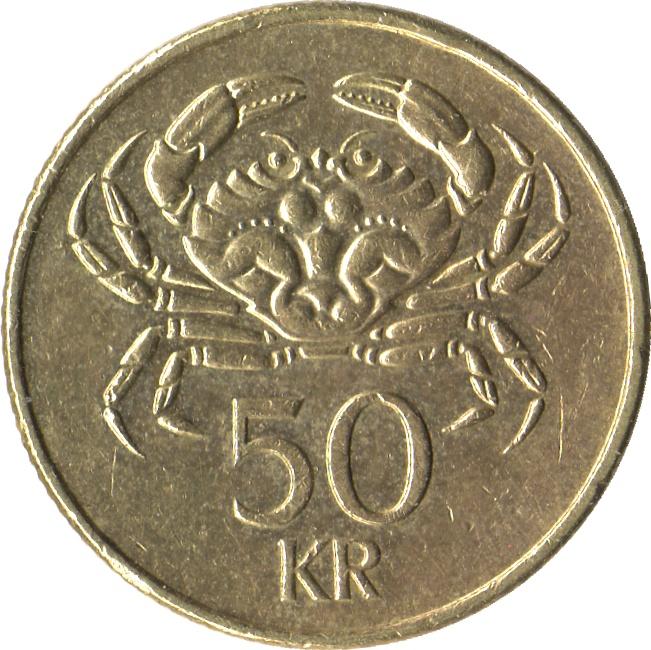 50 Krónur - Iceland – Numista