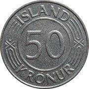 50 Krónur (Sovereignty) – reverse