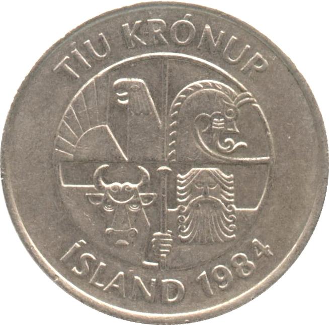 10 Krnur Non Magnetic Iceland Numista