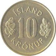 10 Krónur – reverse