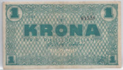 1 Króna – obverse