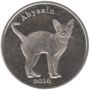 1 Pound (Abyssin) – reverse