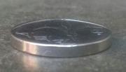1 New Sheqel (with circle below emblem) -  obverse