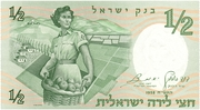 ½ Lira (Walks of Life - Pioneer Woman) – obverse