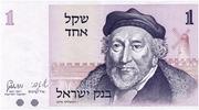 1 Sheqel (Sir Moses Haim Montefiore) – obverse
