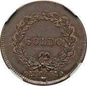 1 Soldo, 10 Denari - Napoleon – reverse