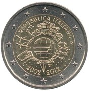 2 Euro (10 Years of Euro Cash) -  obverse