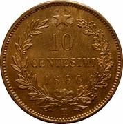 10 Centesimi - Vittorio Emanuele II -  reverse