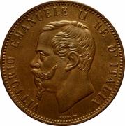 10 Centesimi - Vittorio Emanuele II -  obverse