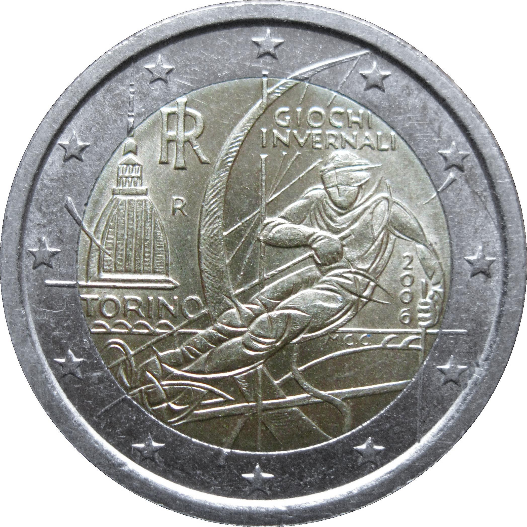2 euro torino olympics italy numista