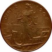 2 Centesimi - Vittorio Emanuele III – reverse