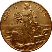 5 Centesimi - Vittorio Emanuele III -  obverse