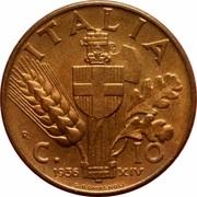 10 Centesimi - Vittorio Emanuele III -  reverse