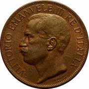 10 Centesimi - Vittorio Emanuele III (Kingdom Anniversary) -  obverse