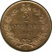 2 Centesimi - Vittorio Emanuele II -  reverse
