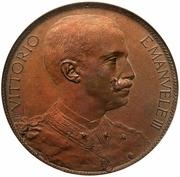 10 Centesimi - Vittorio Emanuele III (Stab. Johnson Pattern Strike) – obverse