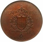10 Centesimi - Vittorio Emanuele III (Stab. Johnson Pattern Strike) – reverse