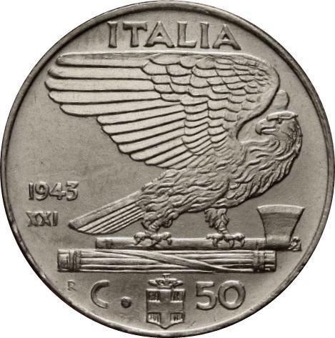 ca ITALIE ITALY 50 centesimi 1940 magnetic
