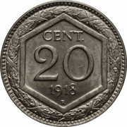 20 Centesimi - Vittorio Emanuele III -  reverse