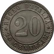 20 Centesimi - Umberto I – reverse