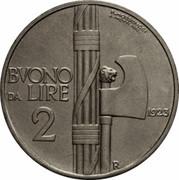 2 Lire - Vittorio Emanuele III (Buono) -  reverse
