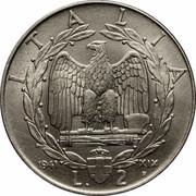 2 Lire - Vittorio Emanuele III (magnetic) -  reverse
