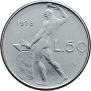 50 Lire (large type) -  reverse
