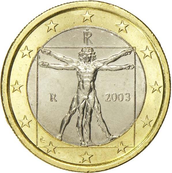 1 Euro (1st map) - Italy – Numista